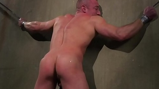BDSM stud gagging while getting dicksucked