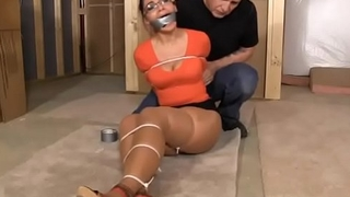 The neighbors daughter gets tied up