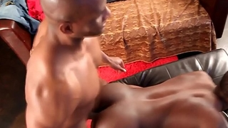 Black hunk doggystyle fucking his lover