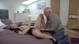 DADDY4K. Beauty Ornella Morgen enjoys nasty sex with old daddy