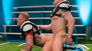 HotHouse Padre Analized On The Field By Muscle Candidates Jock