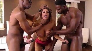 Brooklyn Chase Double Penetration With Big Black Cock