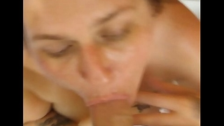 Slut wants that cum all in the mouth