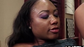 Amazing ebony Channel Main ingredient pussy slammed before facial