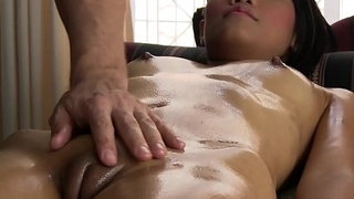 Smooth silky Thai skin massaged by pervert masseur