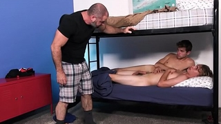 Twink Boy Step Son Threesome With His Best Friend And His Step Dad During Sleepover