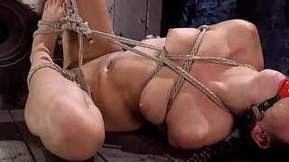 Redhead newcomer suffering brutal hogtie
