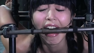 Dildo fucked asian slave drooling by way of bdsm