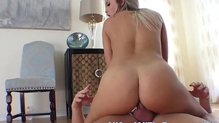 Busty Blonde Brtiney Spreads Ass for First Time Anal!