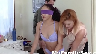 STEP MOM TEACHES DAUGHTER HOW TO SUCK STEP-DADS CUCK- MyFamilySex.com