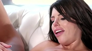 Tiffany toys her babes ass with a dildo