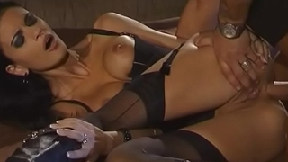 Slutty girl Helena Karel is bent over and then fucked hard in her wet pussy and tight asshole