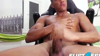 Tato Gari - Flirt4Free - Blatino Hunk Gives His BBC Some Self Love