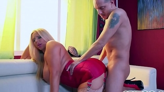 Spizoo - Karen Fisher is punished by a hulking cock, big boobs &amp_ big booty