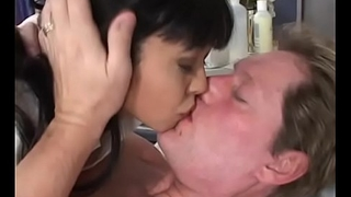 Blistering Asian nurse babe Mika Tan with nice tits sucks and fucks a juicy dick in bed