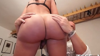 Freaky tgirl gets involved procure a dirty banging act