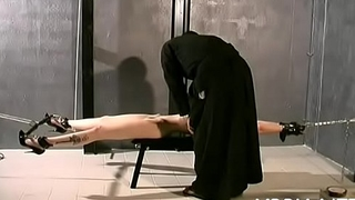 Tits torture and cum-hole bdsm toying for woman in heats
