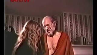 Grandpa close to a sex lesson to granddaughter
