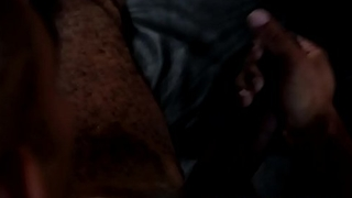Ripped black solo jerking big black cock
