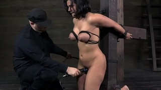 Bigtitted milf orgasms in the long run b for a long time flogged