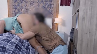 Horny stepson eats a MILF stepmoms wet thirsty pussy