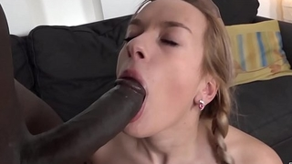 Teen ass fuck and incredible orgasm with broad in the beam black dick