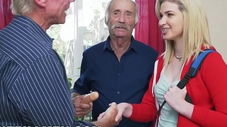BLUE PILL MEN - Young Stacie Gets Rehearsed By Three Horny Old Men