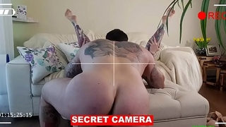 ALT tattooed big ass tattooed babe sucks dick, rims ass and gets fucked abiding before getting a load of cum inside her