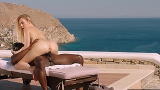 BLACKED Blonde tourist fucked in the ass overwrought black local