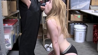 Blonde thief Kate Kenzi receives facial after hammering