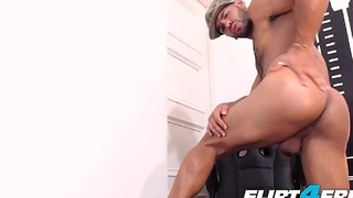 Nahun Ven - Flirt4Free - Latino Strips Out of Military Gear to Unfetter Monster Cock